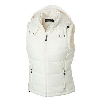 Ladies Hooded Quilted Vest