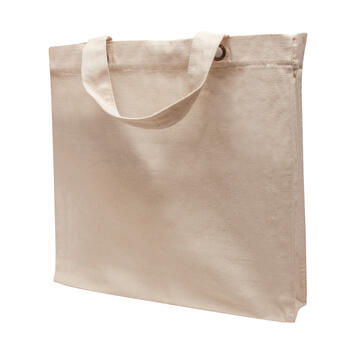 "Cotton Bag ""Macau"" mwith short handles"