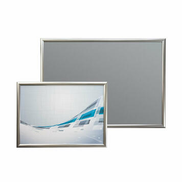 Stainless Steel Look Snap Frame with 25mm Profile & Mitred Corners