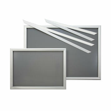 """Window Frame System """"Feko"""", silver anodised, mitred corners"""