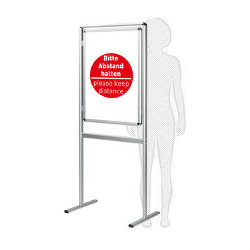 """Poster Stand """"Info"""" with Posters - Keep Your Distance"""