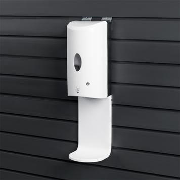 Sensor-Wall - Disinfection Dispenser Retrofit Set for attaching to the FlexiSlot® slatwall