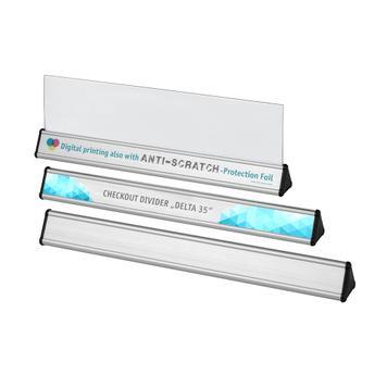 Next Customer Divider made of aluminium, triangular