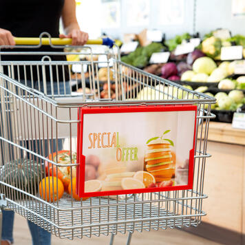 Showcard Frame for Shopping Trolley