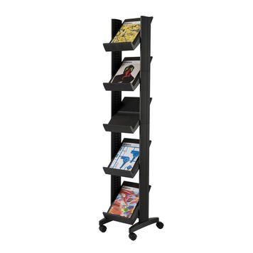"A4 Leaflet Stand ""Corner"" with adjustable shelves"