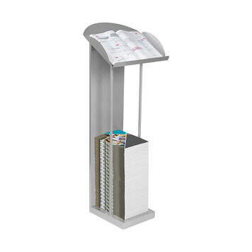 Catalogue Display with Lectern Shelf