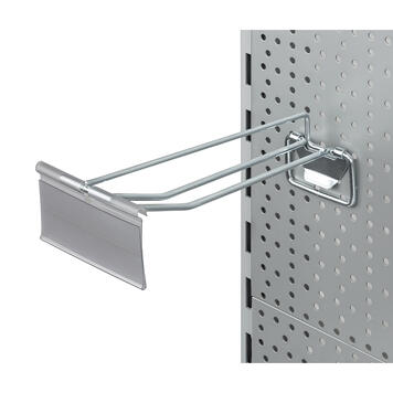 Pegboard Double Hook with Locking Device and Swinging Price Tag