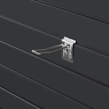 Slatwall Double Hook, 100 – 200 mm