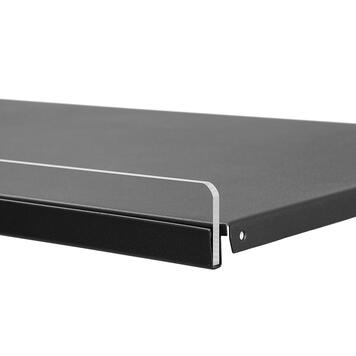 Front Riser 6 mm, insert strip for metal shelves