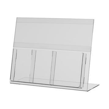 Leaflet holder with insert