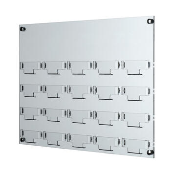 """20 Section Business Card Holder """"Olea"""" for Wall Mounting"""