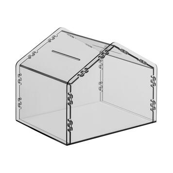 "House-Shaped Donation Box ""Zebrina"""