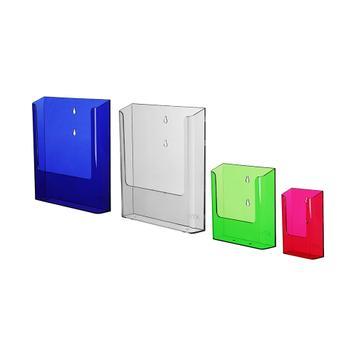 "Single Pocket Wall Mounted Leaflet Holder ""Colour"""