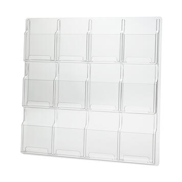 """12 Pocket Wall Mounted A5 Leaflet Holder """"Deluxe"""""""