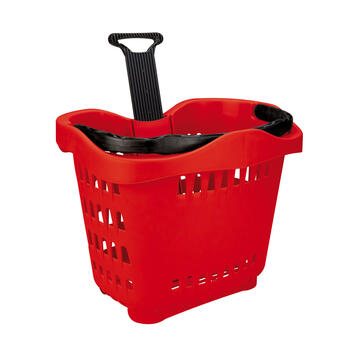 "Roller Basket ""TL- 1"", Shopping Basket 55 litre, to pull"