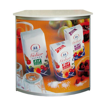 """Front or Side Panel for Round Counter """"Aluline"""" incl. Print"""