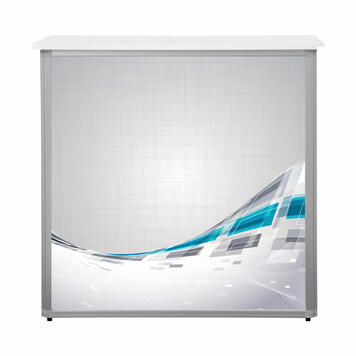 """Digital Print for Rectangular Counter """"Brilliant"""" with Bar Topper"""
