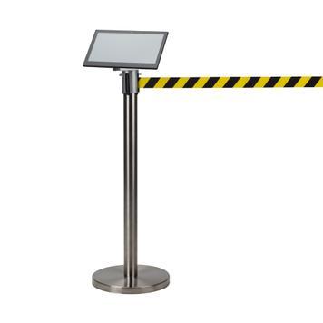 Monitor Holder for Barrier Post Guide