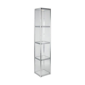 """Square Column """"Curly"""", showcase in trolley bag"""