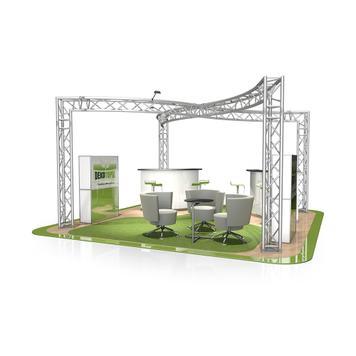 Exhibition Stand FD 33, 6000 mm x 2500 mm x 6000 mm (W x H x D)