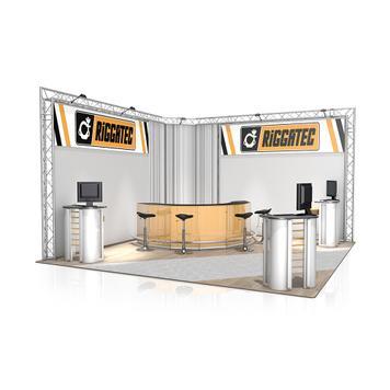 Exhibition Stand FD 23, 4700 mm x 3000 mm x 4700 mm (W x H x D)