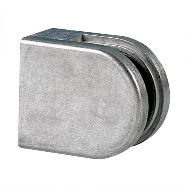 Small glass clamp for mounting on walls 6 and 8 mm