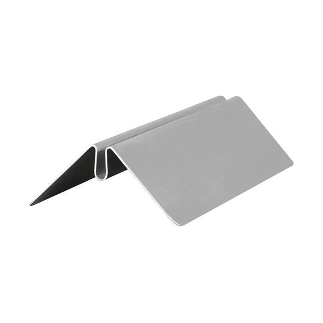 Menu Card Holder in Stainless Steel and Plastic Pocket