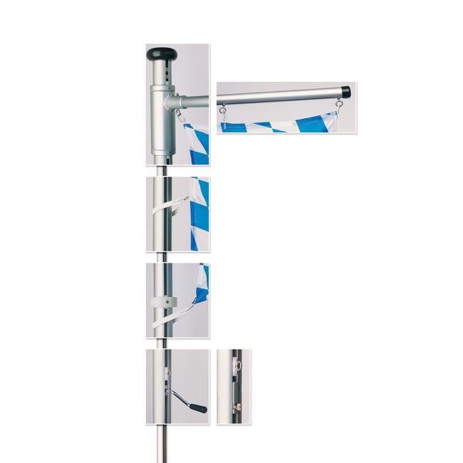 """Aluminium Flag Pole """"Classic Turn"""""""