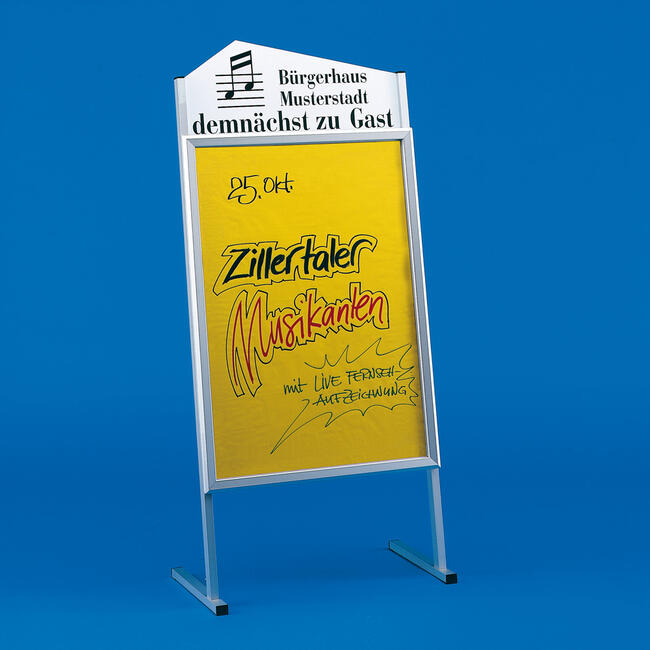 Poster Stand with Shaped Header Board