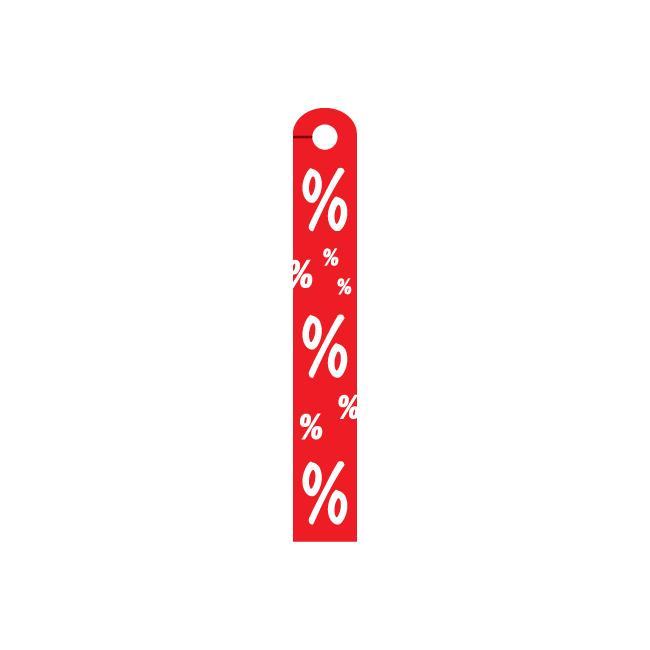 """Ceiling Hanger """"Percentage Symbol"""", in rigid PVC"""