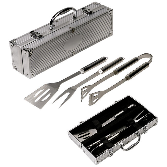BBQ Utensils in an Aluminium Case