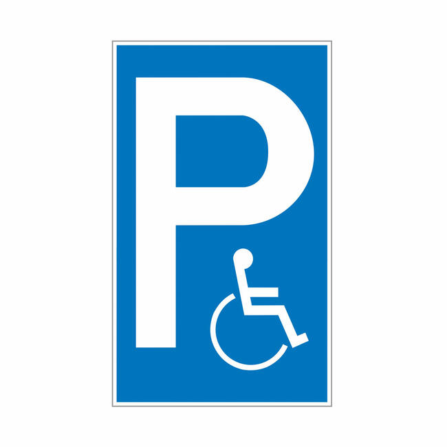 Parking and Stopping Signs of Plastic