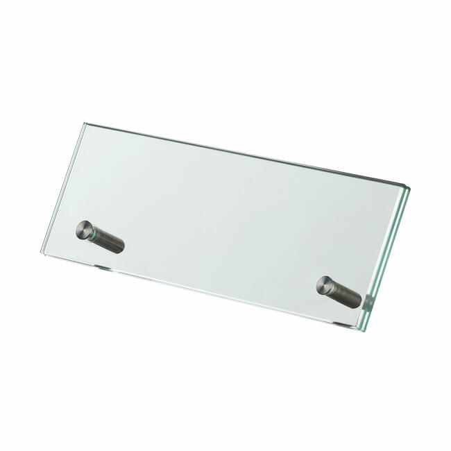 Safety Glass Table-Top Display 200 x 70 mm