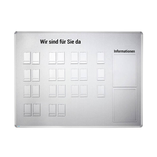 Set of Magnetic Board with Photo Pouches