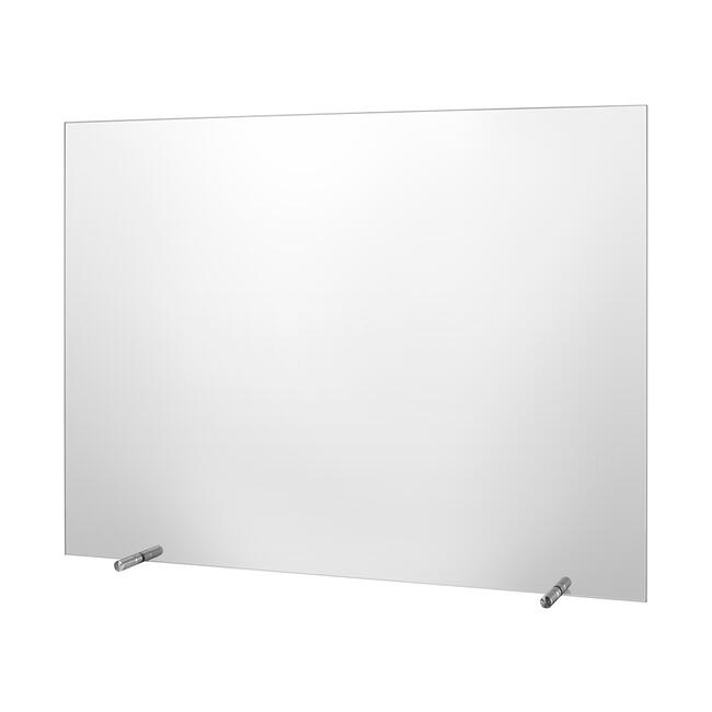 Hygienic Screen made of Glass, free-standing