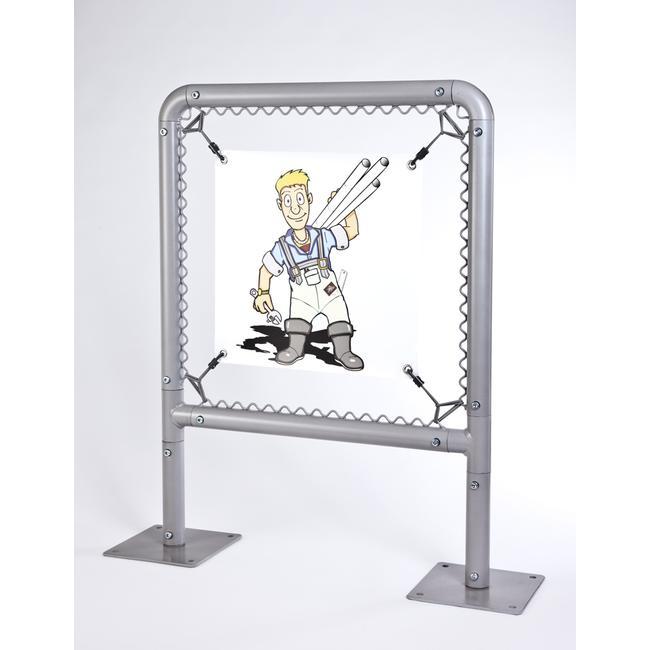 """Banner Frame Slot System Steel """"Little Guy"""""""