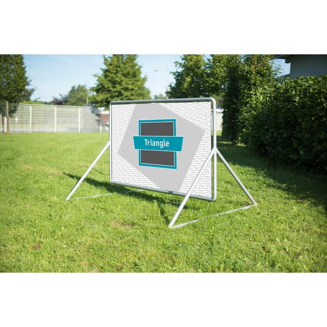 "Banner Frame Slot System Steel ""Triangle Fascia"", hot dip galvanised"