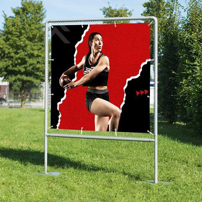 "Banner Frame Slot System Steel ""Vacant"", hot dip galvanised"