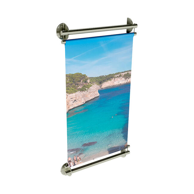 """Stainless Steel Banner Holder INOX """"Wall"""""""
