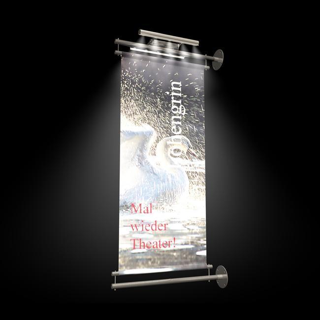 """Banner Holder INOX """"Bracket LED Light"""""""