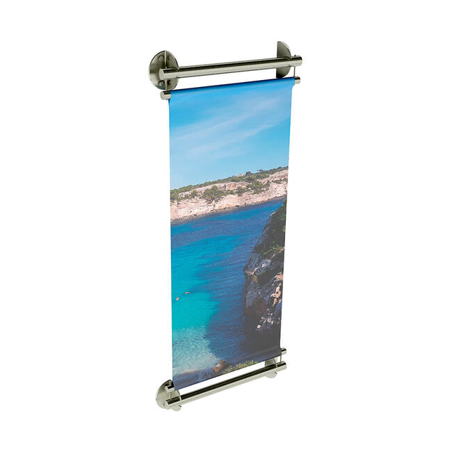 "Stainless Steel Banner Holder INOX ""Wall"""