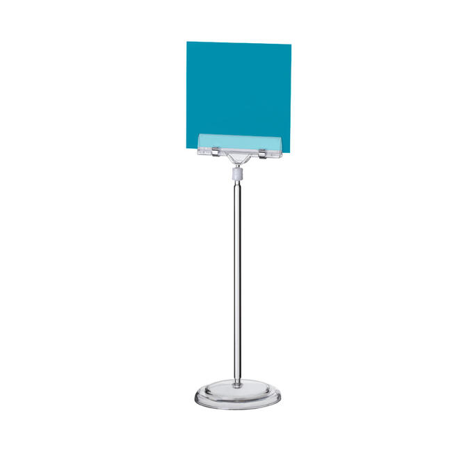 "Large Power Price Holder ""Sign Clip"" with Circular Base"