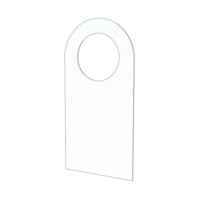 Adhesive Hook with ø 15 mm Round Hole for Blister Packs