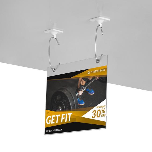White Adhesive Hook, rotating