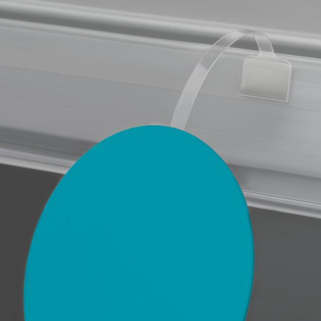 Transparent PVC Price Wobbler 75 mm