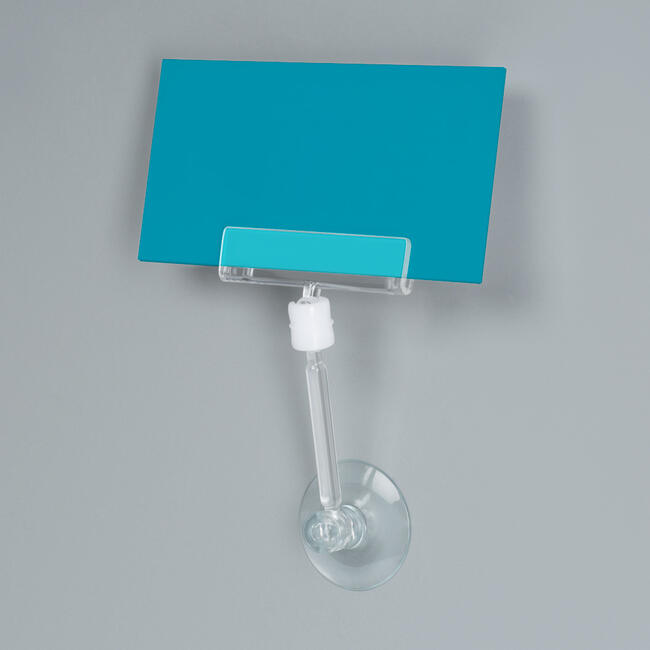 "Large Price Holder ""Sign Clip"" with Suction Cup and Rod"