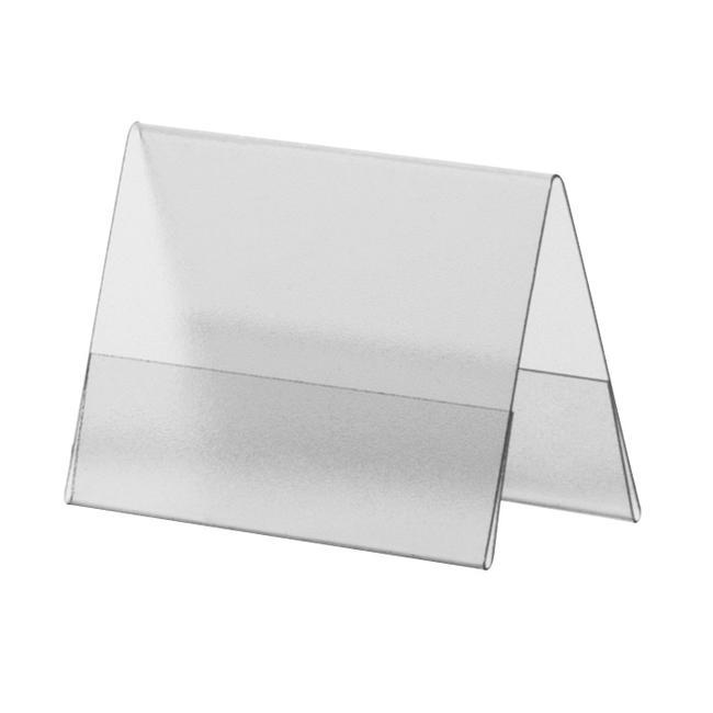 Rigid PVC Tent Display in Standard Paper Sizes