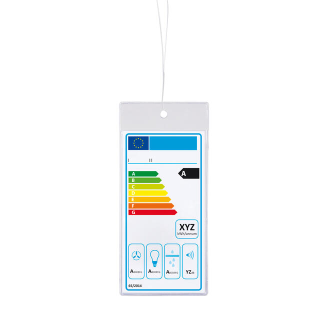 Protective Pocket for Energy Labels for Hanging