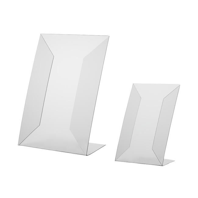 L-Display in Rigid PVC, A4 or A5, can be used portrait or landscape