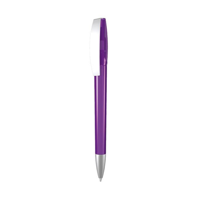 "Push Button Ballpoint Pen ""Chill"" in Gloss Metal"